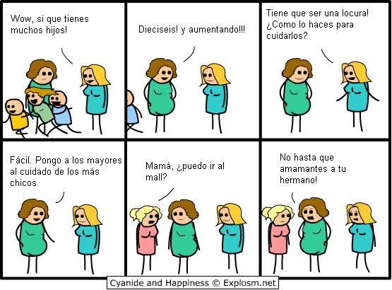 Historietas de Mafalda y Cyanide and Happyness (Español)
